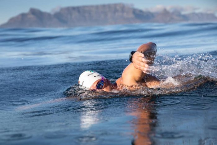 Extreme swimmer makes 100 Robben Island crossings