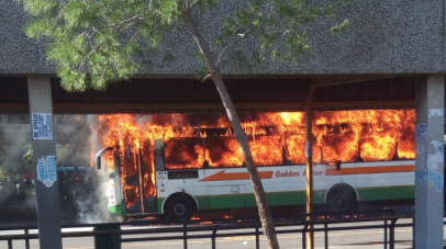 Golden Arrow bus petrol bombed