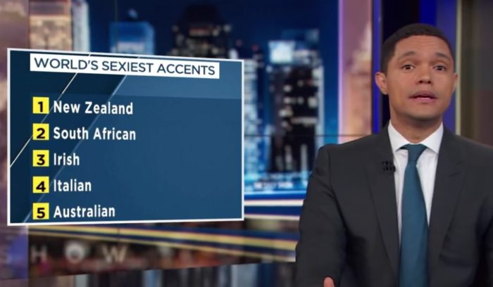 Trevor Noah reacts to SA sexy accent ranking