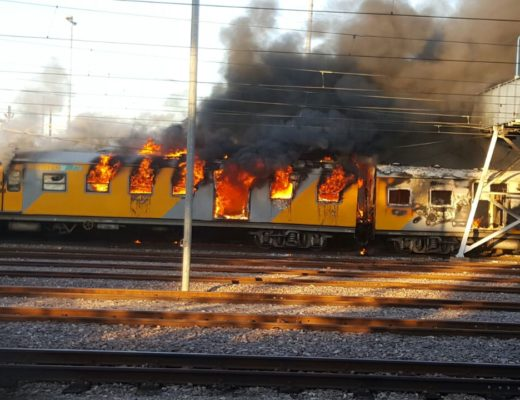 Second train fire in 24 hours