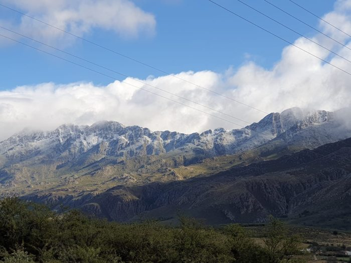 Snow falls in the Western Cape