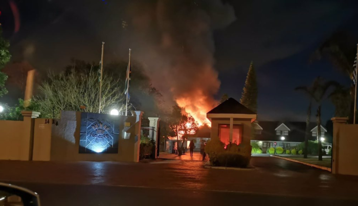 Durbanville hotel goes up in flames