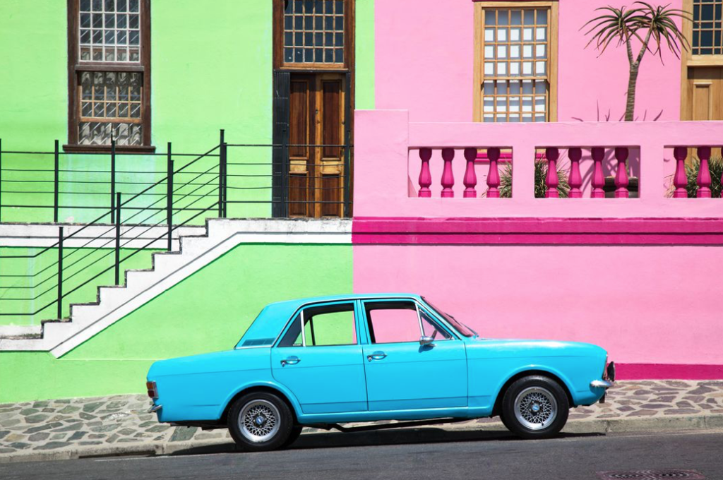 About the famous blue car in the Bo-Kaap