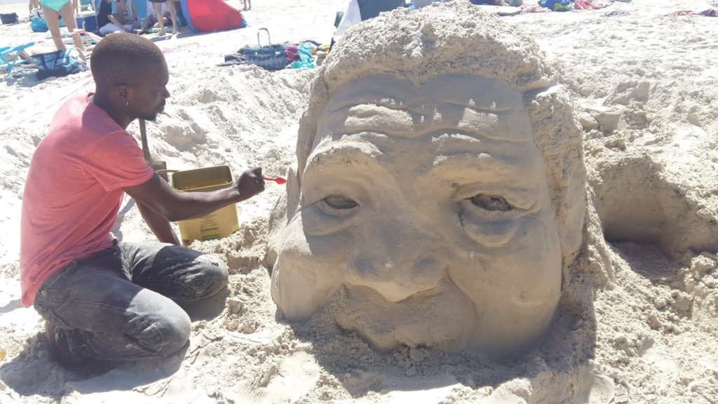 Community calls for support of local sand sculptor