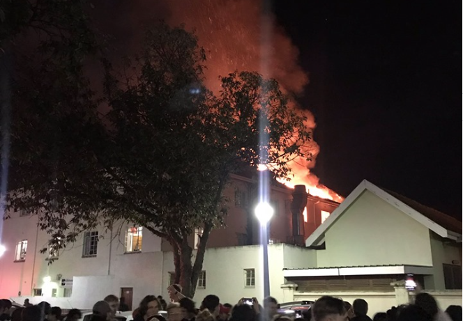 Stellenbosch University residence goes up in flames