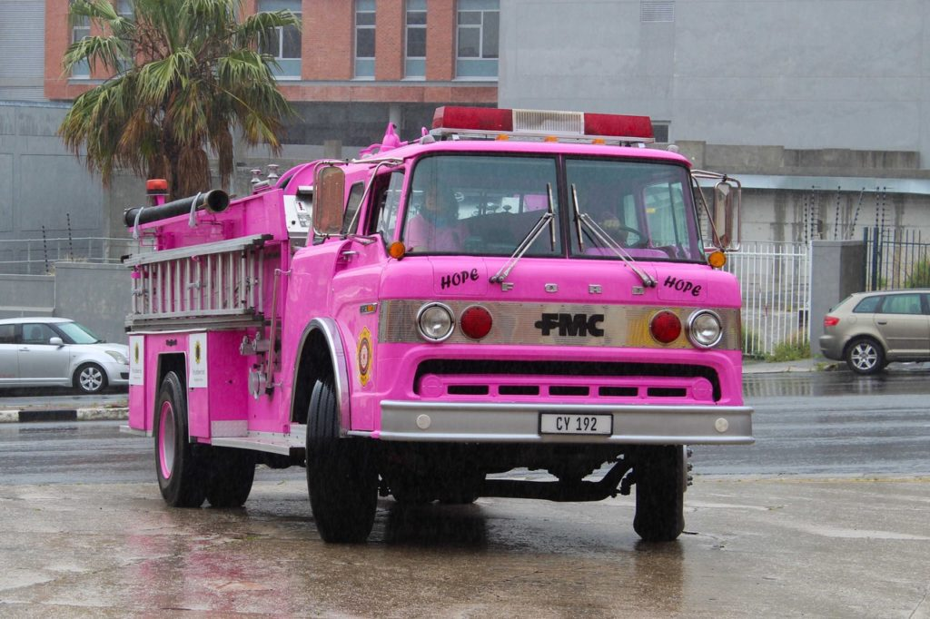 Cape Fire Service unveils pink fire engine