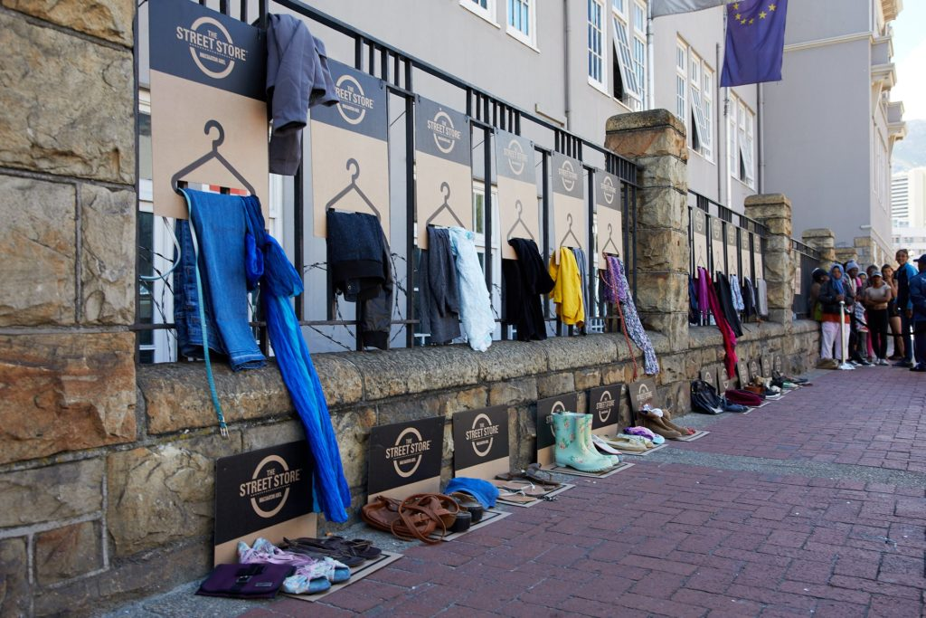 Street store to clothe homeless