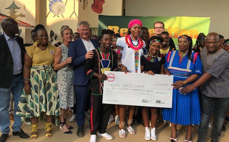 Ndlovu Youth Choir gifted R1-million cheque