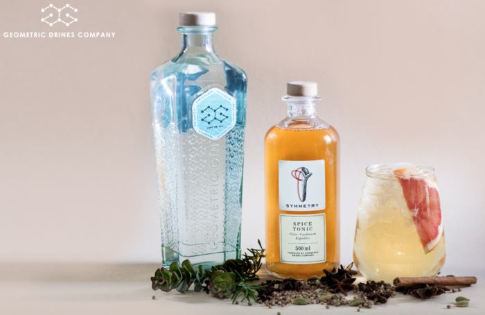 WIN: A bottle of Geometric Gin & Symmetry Tonic (closed)