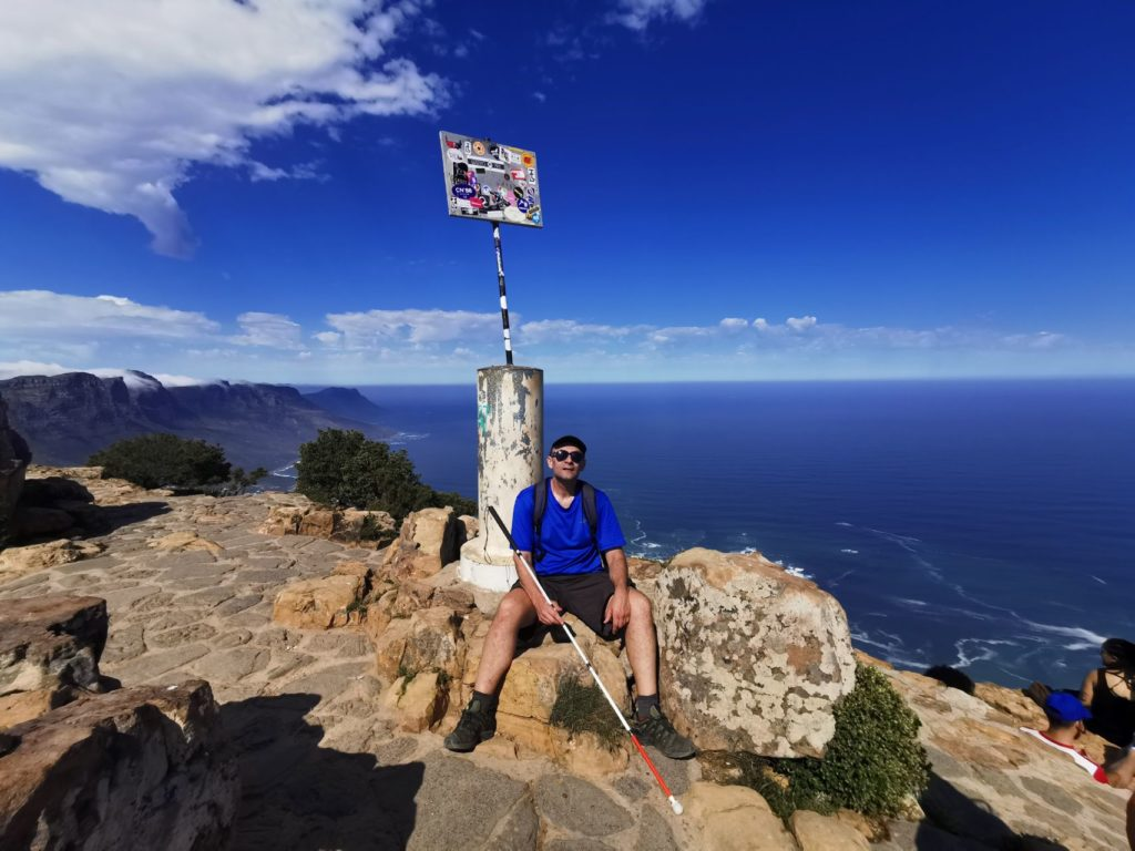 Blind man conquers Lion's Head