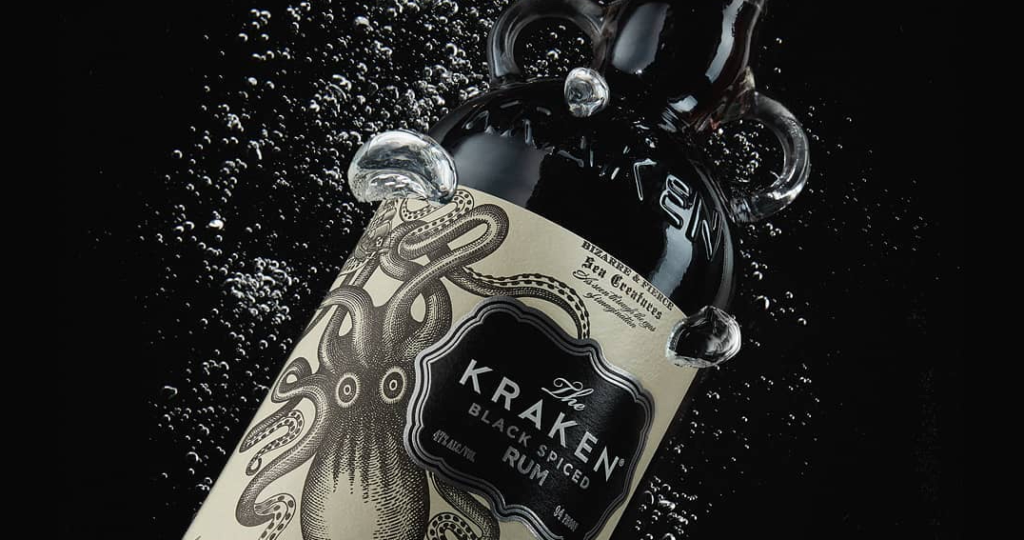 WIN: A bottle of The Kraken Black Spiced rum (closed)