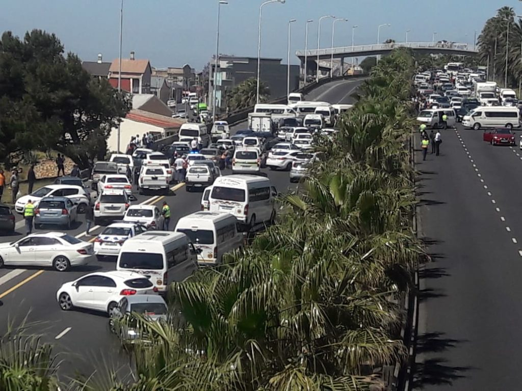 Taxi protests cause road closures