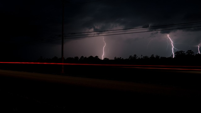 Couple struck by lightning while driving