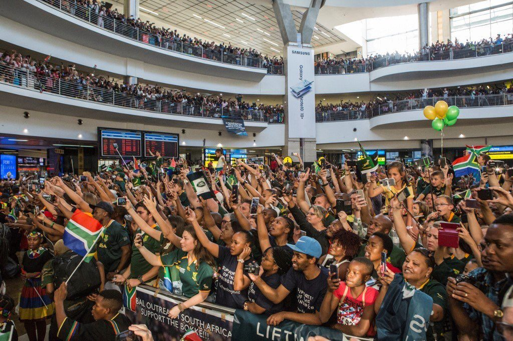 South Africa welcomes the Bokke back home