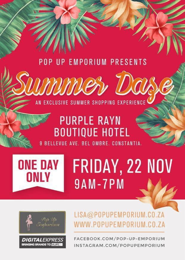Summer daze pop up shopping experience