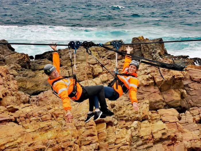 Longest ocean zipline officially opens in Mossel Bay