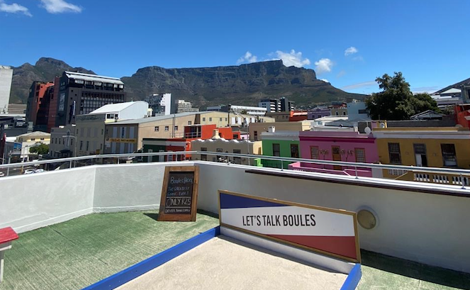 Play pop-up boules on a Bo-Kaap rooftop