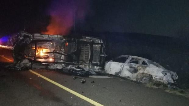 Driver burns to death in N1 crash
