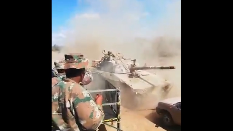 SANDF tank loses control nearly hitting soldiers