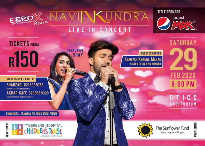 Navin Kundra: Bollywood concert at the CTICC