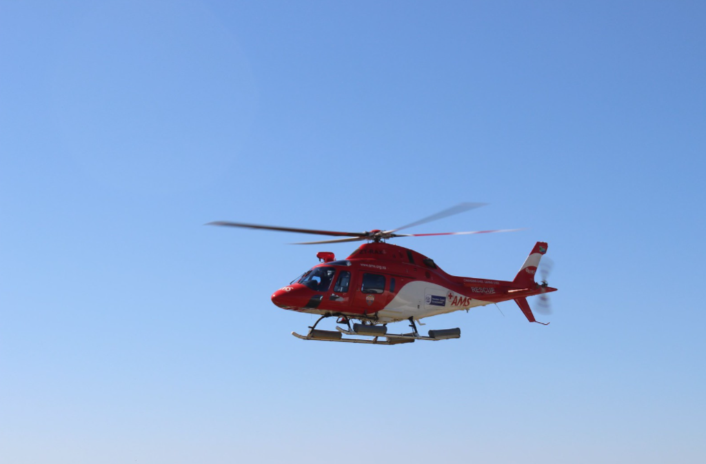 Toddler airlifted to hospital