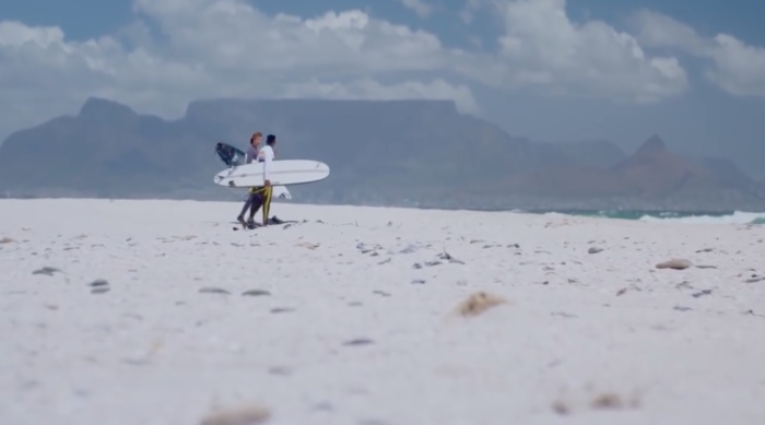Siya Kolisi surfs it up in Cape Town