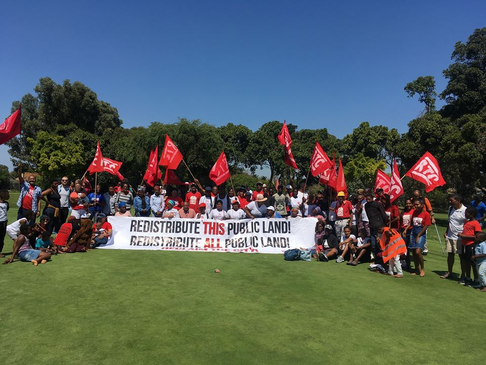 Activists protest on Rondebosch Golf Course