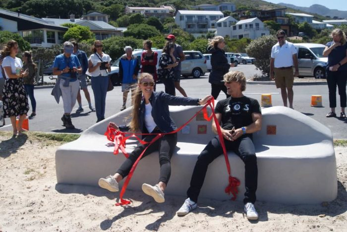 EcoBrick bench unveiled at Noordhoek Beach