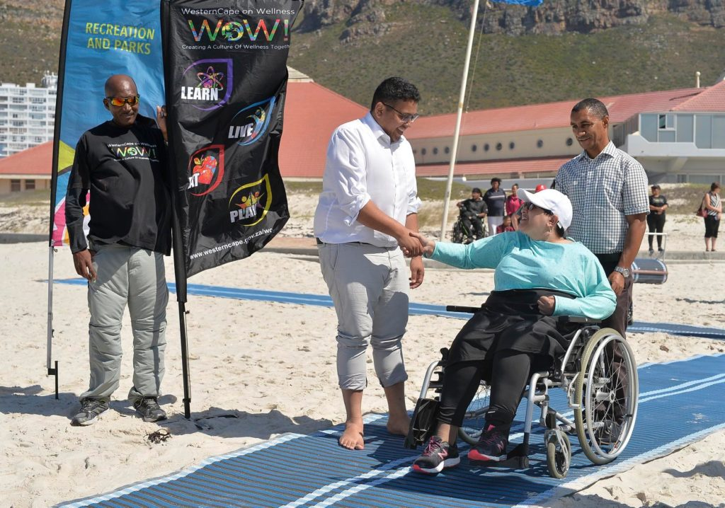Universal access mat rolled out at Muizenberg beach