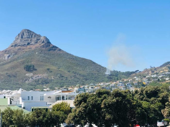 Fire rages on slopes of Lion's Head