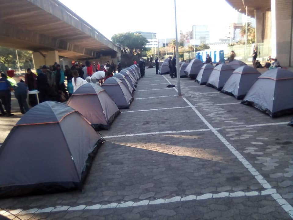 Lockdown camps set up to assist homeless Capetonians