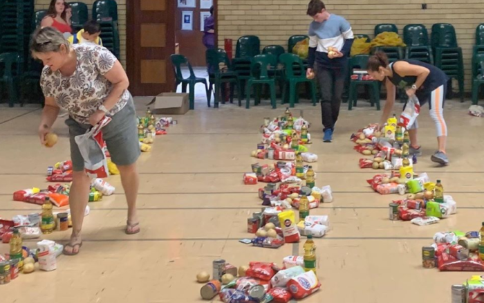 Camps Bay High School makes food hampers for families