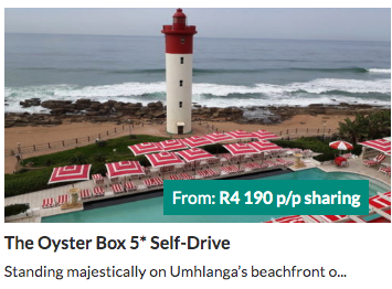 The Oyster Box - from R4190 per person | holiday packages in South Africa
