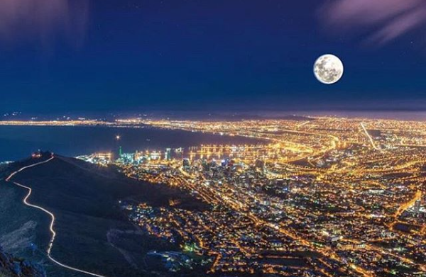Super Worm Moon dazzles in Cape Town