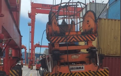 Port closes as crane crashes onto driver