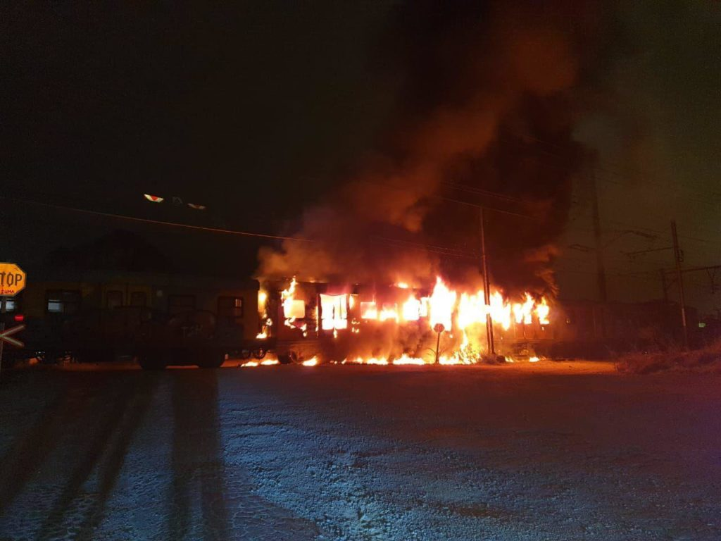 Train razed at Eerste River station