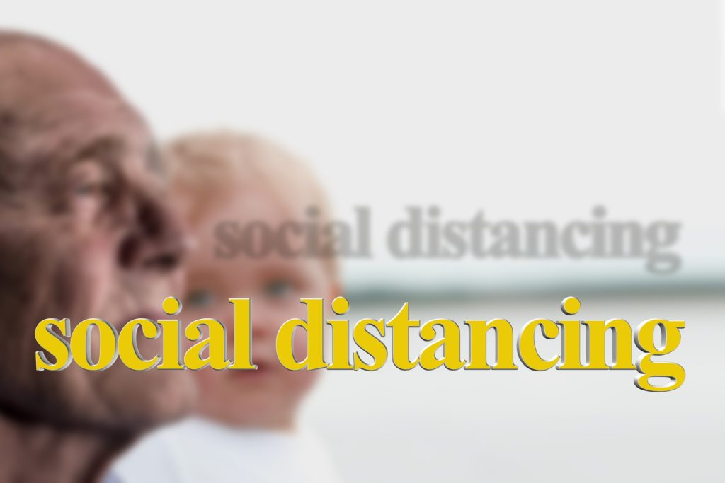 Flattening the curve, the reason for social distancing