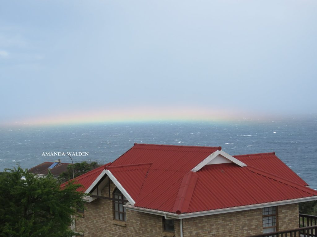 Unique 'flat rainbow' spotted in Mossel Bay