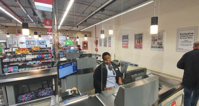 Pick n Pay unveils perspex screens for lockdown