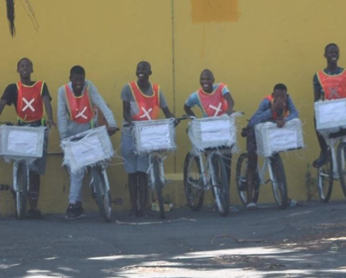 Langa teens run R9 delivery service