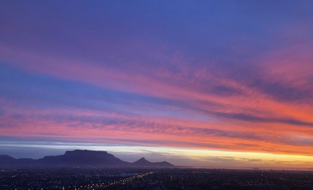 Cape Town skies show off at sunset
