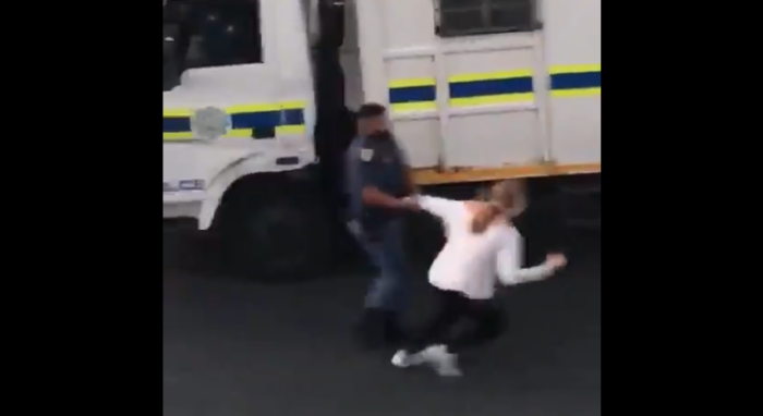 Woman manhandled, arrested in Strand