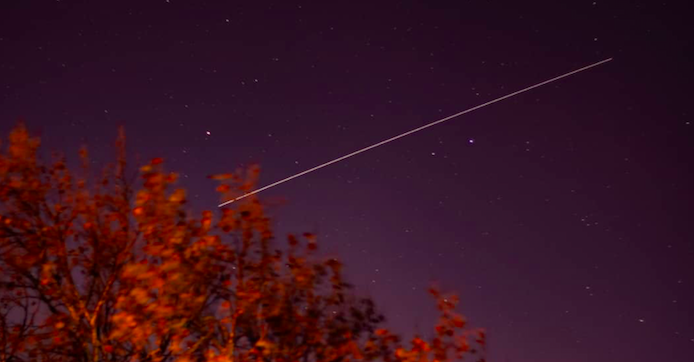 The International Space Station as seen from Cape Town