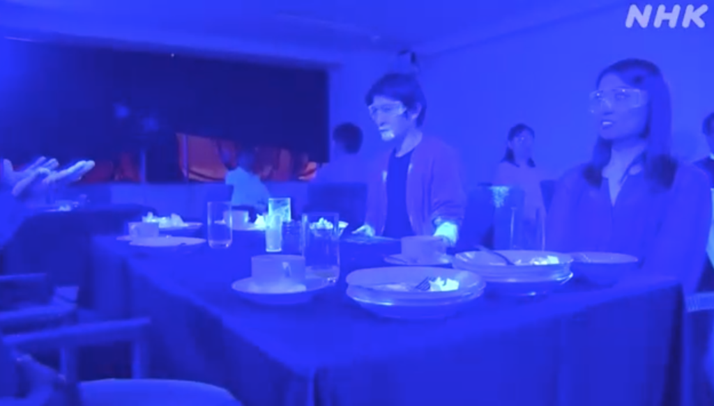 Black light experiment shows how fast germs can spread