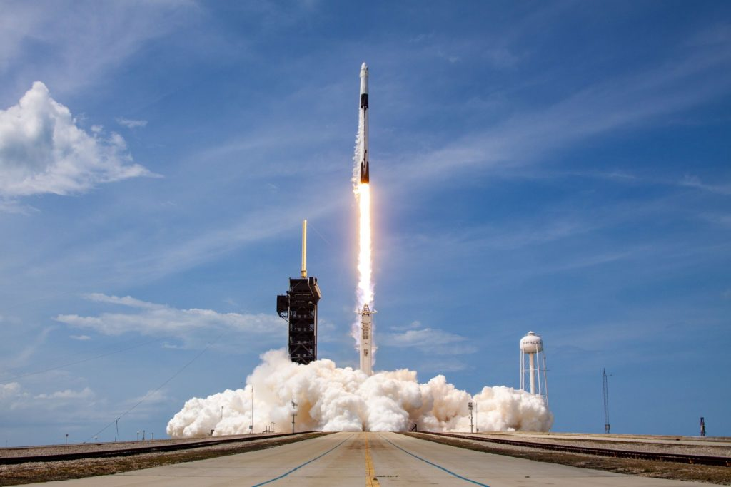 Historic SpaceX launch successfully sends astronauts to space