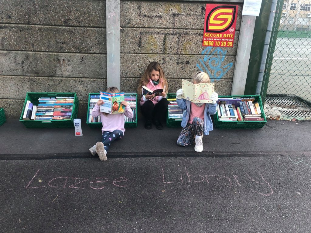CT locals open pop-up pavement library