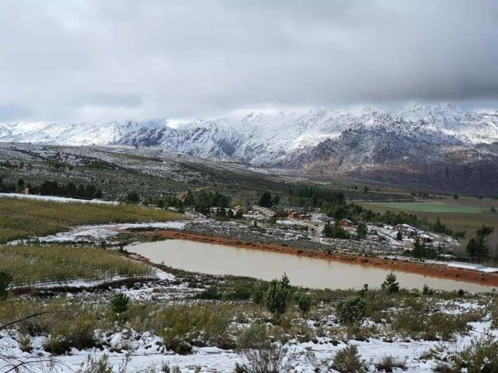 Snowy weekend scenes from the Western Cape