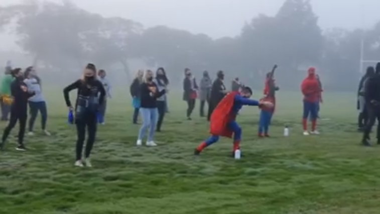 Superheroes welcome back pupils at Table View Primary