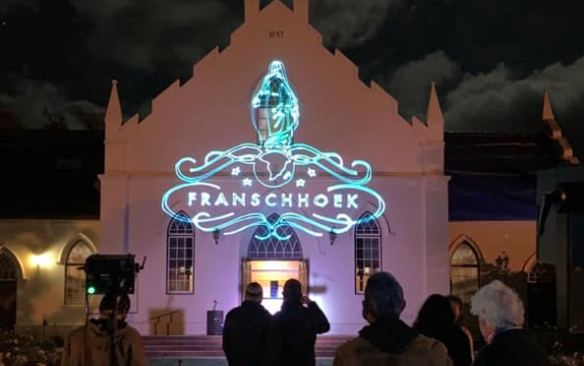 Franschhoek NGOs thank frontline workers with laser show
