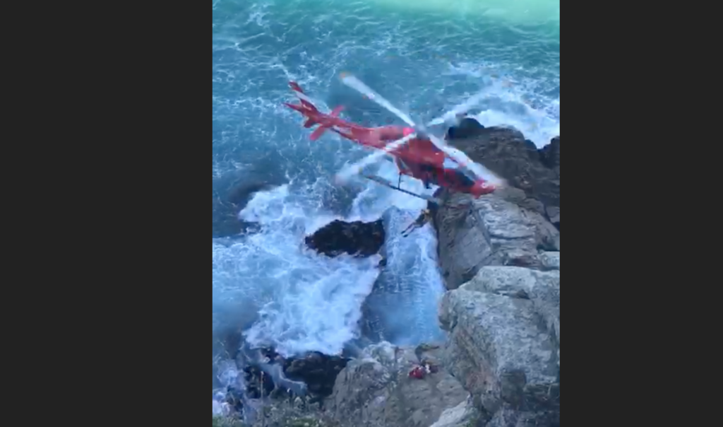 Elderly hiker airlifted off Herolds Bay cliff after getting stuck